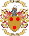 De Vaughn Family Crest from England