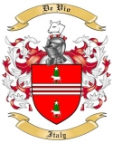 De Vio Family Coat of Arms from Italy