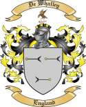 De Whalley Family Coat of Arms from England