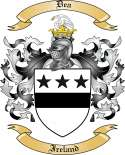 Dea Family Crest from Ireland