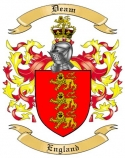 Deam Family Crest from England