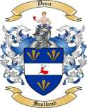 Dean Family Crest from Scotland