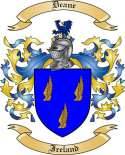Deane Family Crest from Ireland