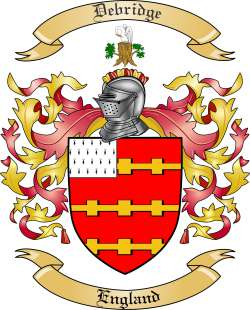 Debridge Family Coat of Arms from England