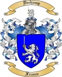 Dechamp Family Coat of Arms from France
