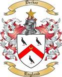 Decker Family Coat of Arms from England