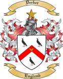 Deeker Family Coat of Arms from England