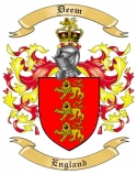 Deem Family Coat of Arms from England