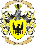 Dehre Family Coat of Arms from Germany