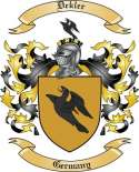 Dekler Family Crest from Germany