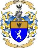 DelGrande Family Crest from Italy