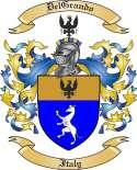 DelGrando Family Crest from Italy