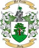 Del Conte Family Crest from Italy