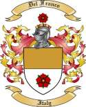 Del Franco Family Crest from Italy