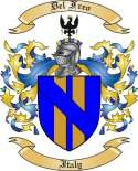 Del Freo Family Crest from Italy
