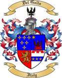Del Gallo Family Coat of Arms from Italy