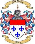 Del Negro Family Coat of Arms from Italy