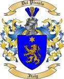 Del Piccolo Family Crest from Italy