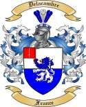 Delacambre Family Coat of Arms from France