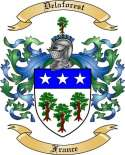 Delaforest Family Crest from France