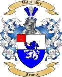Delcambre Family Coat of Arms from France