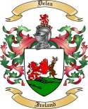 Delea Family Crest from Ireland