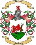 Deleas Family Crest from Ireland