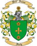 Dell' Anno Family Crest from Italy