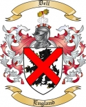 Dell Family Crest from England