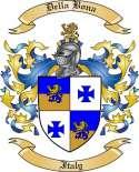 Della Bona Family Crest from Italy