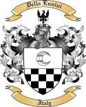 Della Lunini Family Crest from Italy