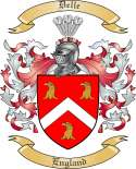 Delle Family Crest from England