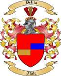 Dellia Family Crest from Italy