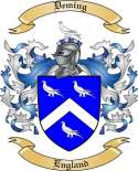 Deming Family Coat of Arms from England