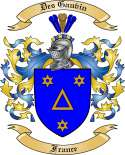Des Gauvin Family Coat of Arms from France