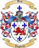 Dew Family Coat of Arms from England2