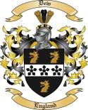 Dew Family Coat of Arms from England