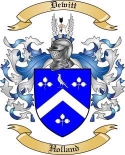 Dewitt Family Crest from Holland by The Tree Maker