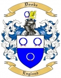 Dooke Family Coat of Arms from England