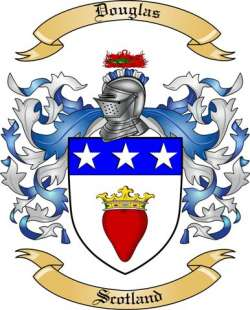 Douglas Family Coat of Arms from Scotland