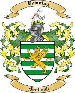 Downing Family Crest From Scotland By The Tree Maker