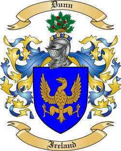 Dunn Family Crest From Ireland By The Tree Maker