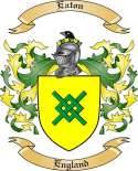 Eaton Family Crest from England