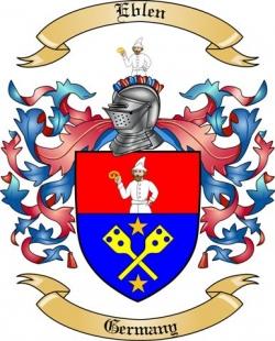 Eblen Family Crest from Germany