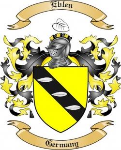 Eblen Family Crest from Germany2