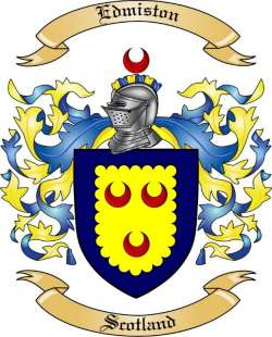 Edmiston Family Crest From Scotland By The Tree Maker