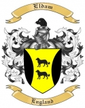 Eldam Family Crest from England