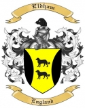 Eldham Family Crest from England