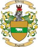 Eldrich Family Coat of Arms from England