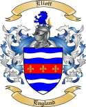 Eliott Family Crest from England